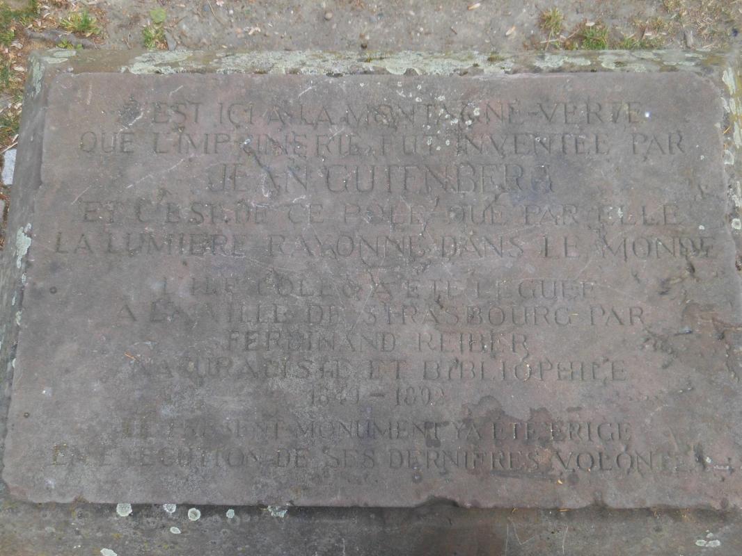Stèle gutenberg